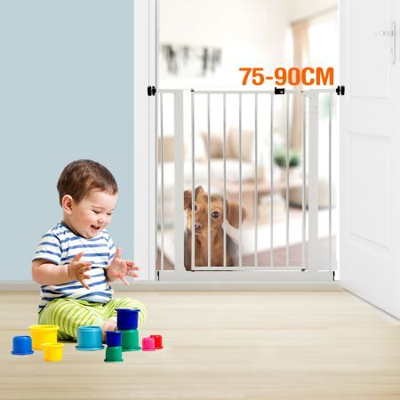 75cm High White Baby/Pet Safety Gate