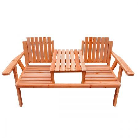 Garden Seat - Outdoor Wooden Park Bench with Table