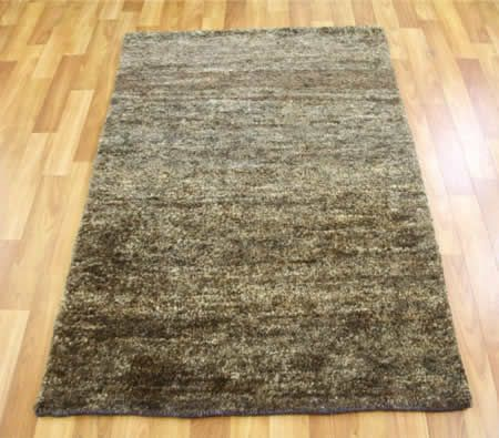 Hand Knotted Hemp Rug - Dark Grey 165x115cm