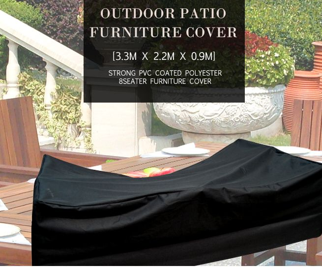 Strong Outdoor Rectangular Pvc Coated Polyester 8 Seater