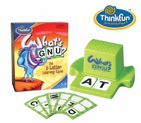 Thinkfun What's Gnu the 3-Letter Learning Game for Age 5-8/2-6 Players