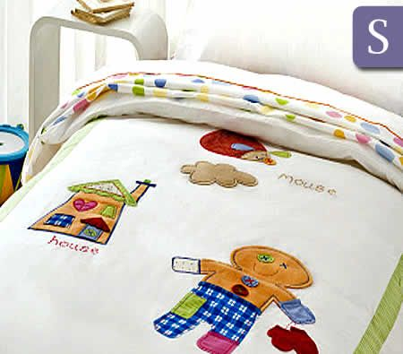 Happy Kids Gingerbread Man Collection 250TC Single Bed Quilt Cover ... : gingerbread man quilt - Adamdwight.com