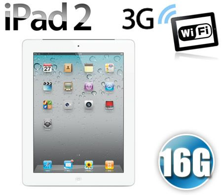 Apple iPad 2 16GB Wi-Fi + 3G - White