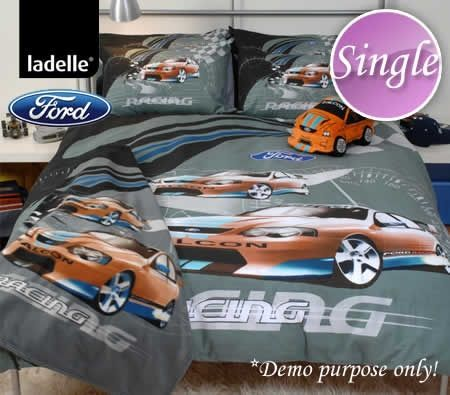 Ladelle Ford Racing Wave Bed Quilt Cover Set Single Image Number