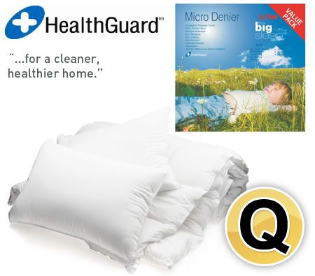 The Big Sleep Micro Denier 500GSM Washable Quilt & Twin Pillow Value Pack - Queen Size