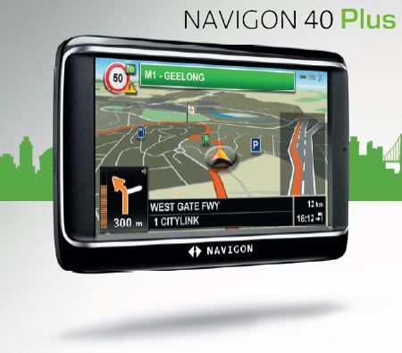 4 3 navigon 40 plus gps navigation system. Black Bedroom Furniture Sets. Home Design Ideas