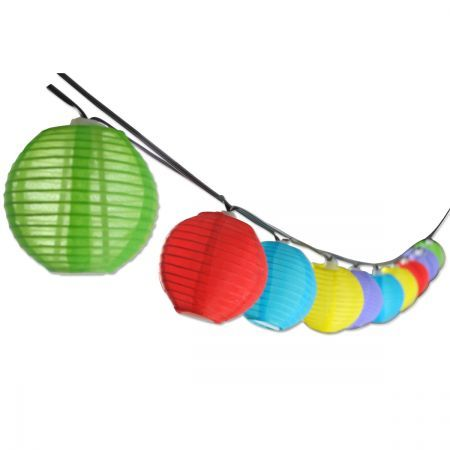Multi-Colour Chinese Lantern Solar String Lights