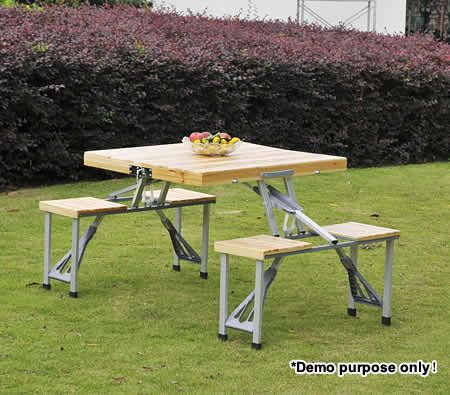 4 person wooden foldable table four chairs set for for 10 person picnic table