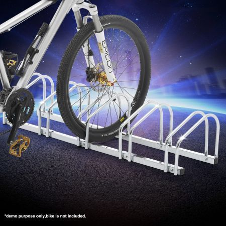 Bike Storage Rack Stand Stores 5 Bicycles