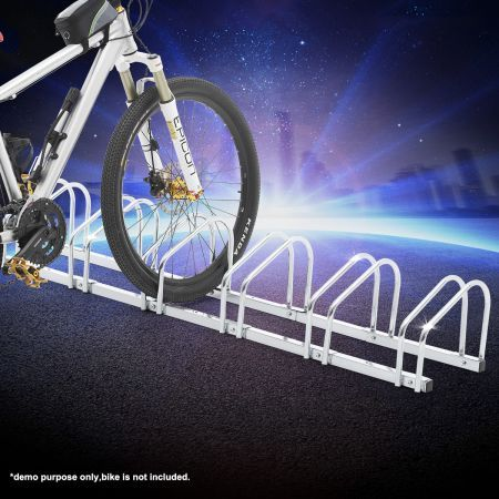 Bike Storage Rack Stand Stores 6 Bicycles