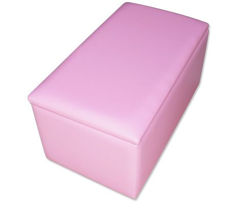 Children Ottoman with Storage Compartment - Pink