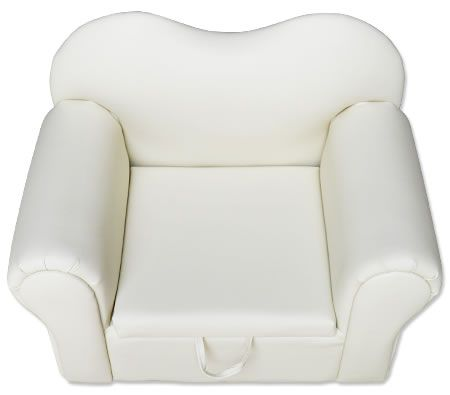 Multi-Function 1 Seater PVC Leather Children Beige Sofa with Toy Box