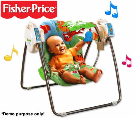Fisher Price Rainforest Open Top Take Along Swing Crazy