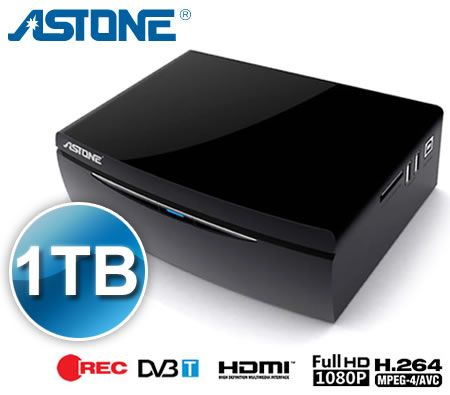 Astone Media Gear MP-300T 1080p Media Player & DVB-T Recorder with 1 TB HDD  for Storage