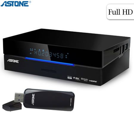 Astone Media Gear MP-310DT 1080p Media Player & Dual DVB-T Recorder USB3.0 with WiFi Connection