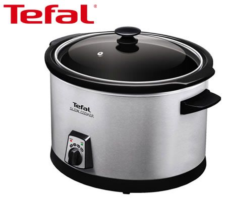 Tefal 5.5 Litre Slow Cooker Crock-Pot with Removable Ceramic Cooking Bowl