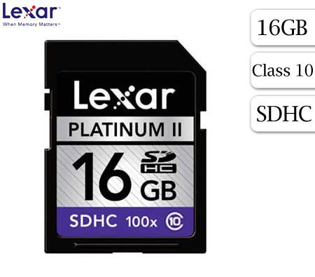 FREE SHIPPING! Lexar 16GB Platinum II SDHC Card Class 10 100X