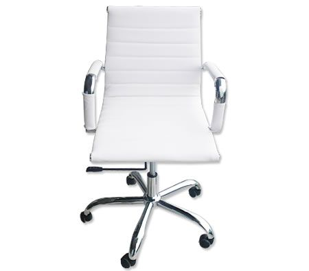 Student / Computer / Office Low Back AMES Chair Height Adjustable - White
