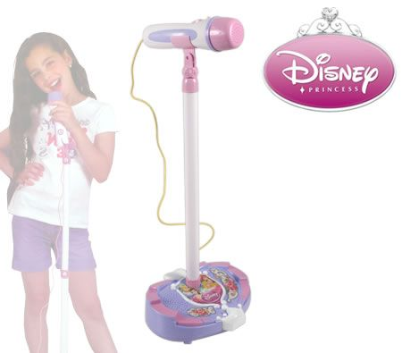 Disney Princess Karaoke Microphone with Stand and Inline Speaker Connection