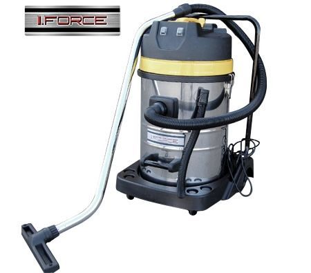 NEW iForce 70L 3000W Commercial Industrial Dual Motor Wet & Dry Stainless Steel Vacuum Cleaner
