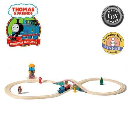 Thomas Friends Wooden Railway Award Winning Toy Water Tower Figure 8 Set Toy