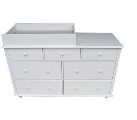 7 drawer new zealand pine mdf baby change table with pad white crazy sales. Black Bedroom Furniture Sets. Home Design Ideas