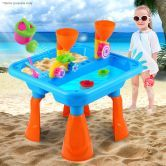Outdoor Water & Sand Children Activity Play Table with Accessories - Blue