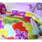 Happy Kids Single Bed Quilt Cover with Pillowcase Set - Butterflies
