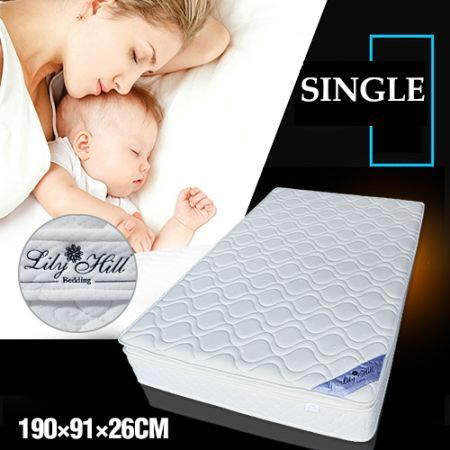 Lily Hill Bedding Latex Mattress - Hypo-Allergenic Single Bed Size