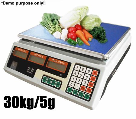 Price Computing Weight Scale with Front & Back LCD Display - SAA Power Adapter