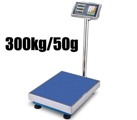 Platform Price Computing Weight Scale with Front & Back LCD Display - SAA Power Adapter & 300kg Max Weight Capacity