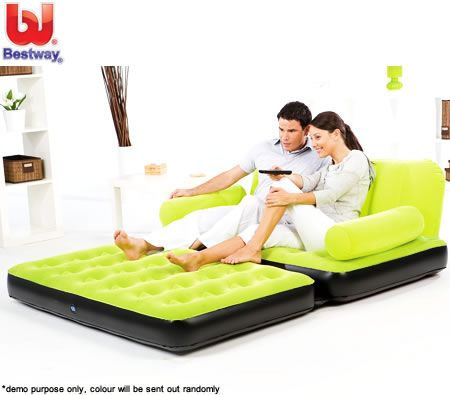 Bestway Inflatable Double Multifunctional Couch Lounge Sofa with AC Air Pump
