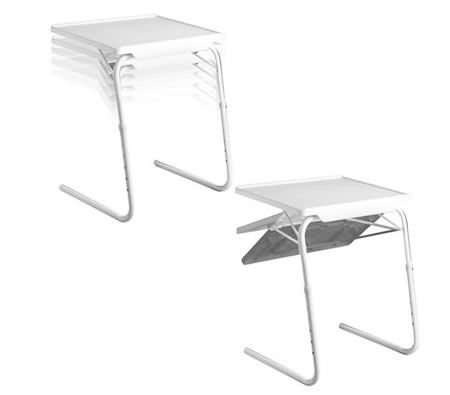 new style 13948 da9f6 Portable, Multi Purpose, Foldable TV Dinner Table with 6 Height Adjustment  & 3 Different Angles