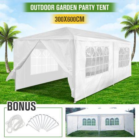 Gazebo Pergola Party u0026 Function Tent with 6 Walls - 3m x 6m x 2.6m - White  sc 1 st  CrazySales & Gazebo Pergola Party u0026 Function Tent with 6 Walls - 3m x 6m x 2.6m ...