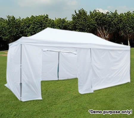 Rectangle Shaped Gazebo Pergola Party & Function Marquee Tent- 3m x 6m x  3 1m - White