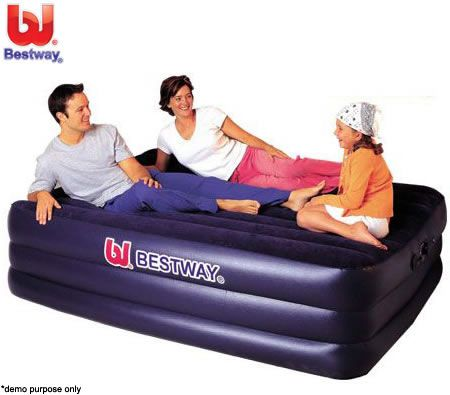 Bestway Queen Size Inflatable Mattress/Air Bed with Built-in Pump