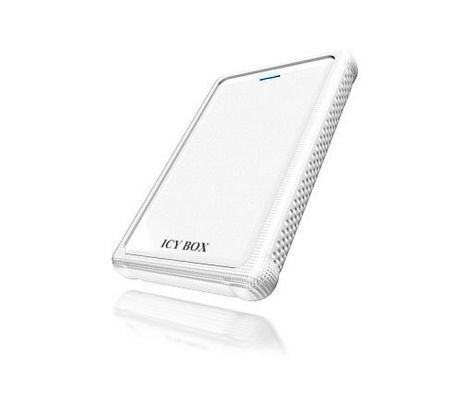 "Icy Box IB-223StU 2.5"" External Hard Drive Enclosure SATA to USB3.0 with Silicon Sleeve - White"