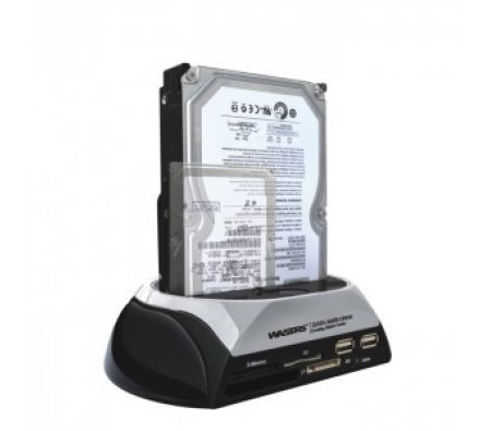 SATA HDD Docking Station with Memory Card Reader and USB Hub