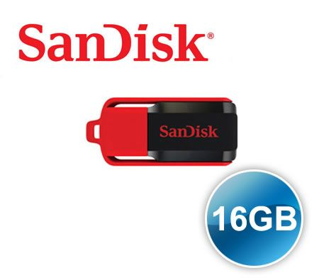 Free Shipping Sandisk 16 G 16GB Cruzer Switch USB Flash Drive - with Attached Flip-Top Cap Lid