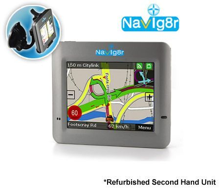 Laser Navig8r G35 GPS Navigation System - 3.5 inch LCD Touch Screen-REFURBISHED