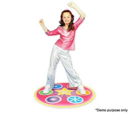 Bella Dancerella Pop Star Dance Mat with 45 Minute VHS Video and Microphone Headset
