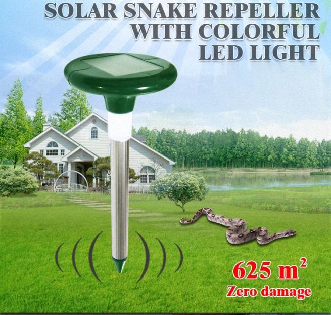 Solar Powered Snake Repellent with LED light