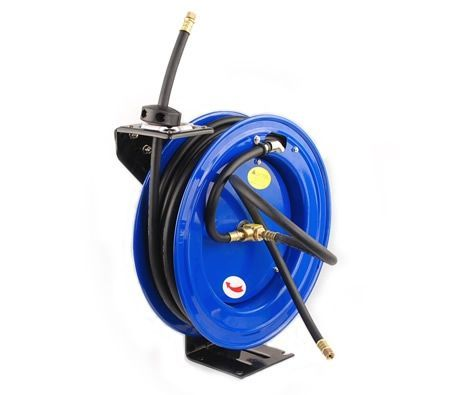 15M Heavy Duty Auto Retractable Rewind Air Hose Reel - Blue