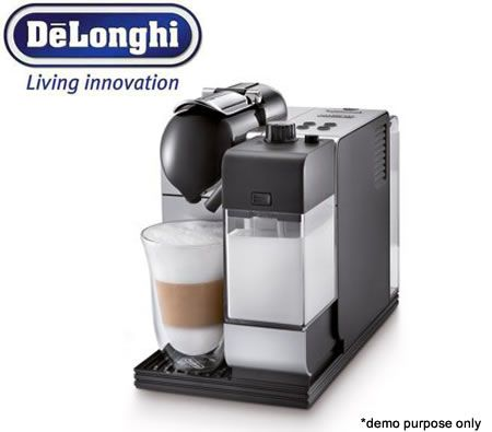 DeLonghi Nespresso Lattissima+ Coffee Machine - Silver + 16 Coffee Pods