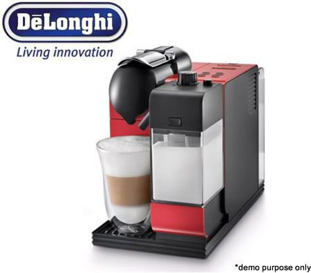 DeLonghi Nespresso Lattissima+ Coffee Machine - Red + 16 Coffee Pods