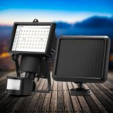 Solar Motion Sensor Light - Adjustable Motion Distance and Time - 60 LED