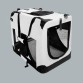 Portable Pet Soft Crate Carrier - 82cm Extra Large, Waterproof, Gray