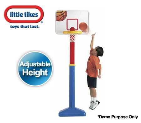 Little Tikes Basketball Ring Set for Children -  Adjust 'n' Jam