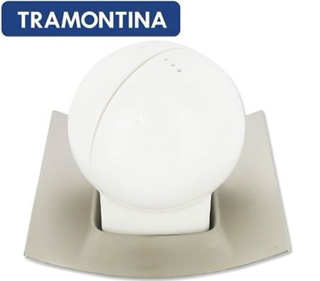 Tramontina Porcelain Pepper & Salt Set on Platter - German Porcelain