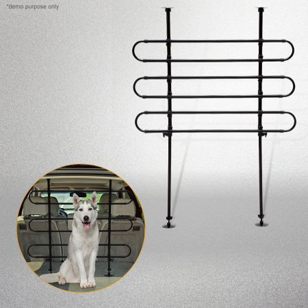 3 Bar Design Adjustable Vehicle Tubular Pet Barrier
